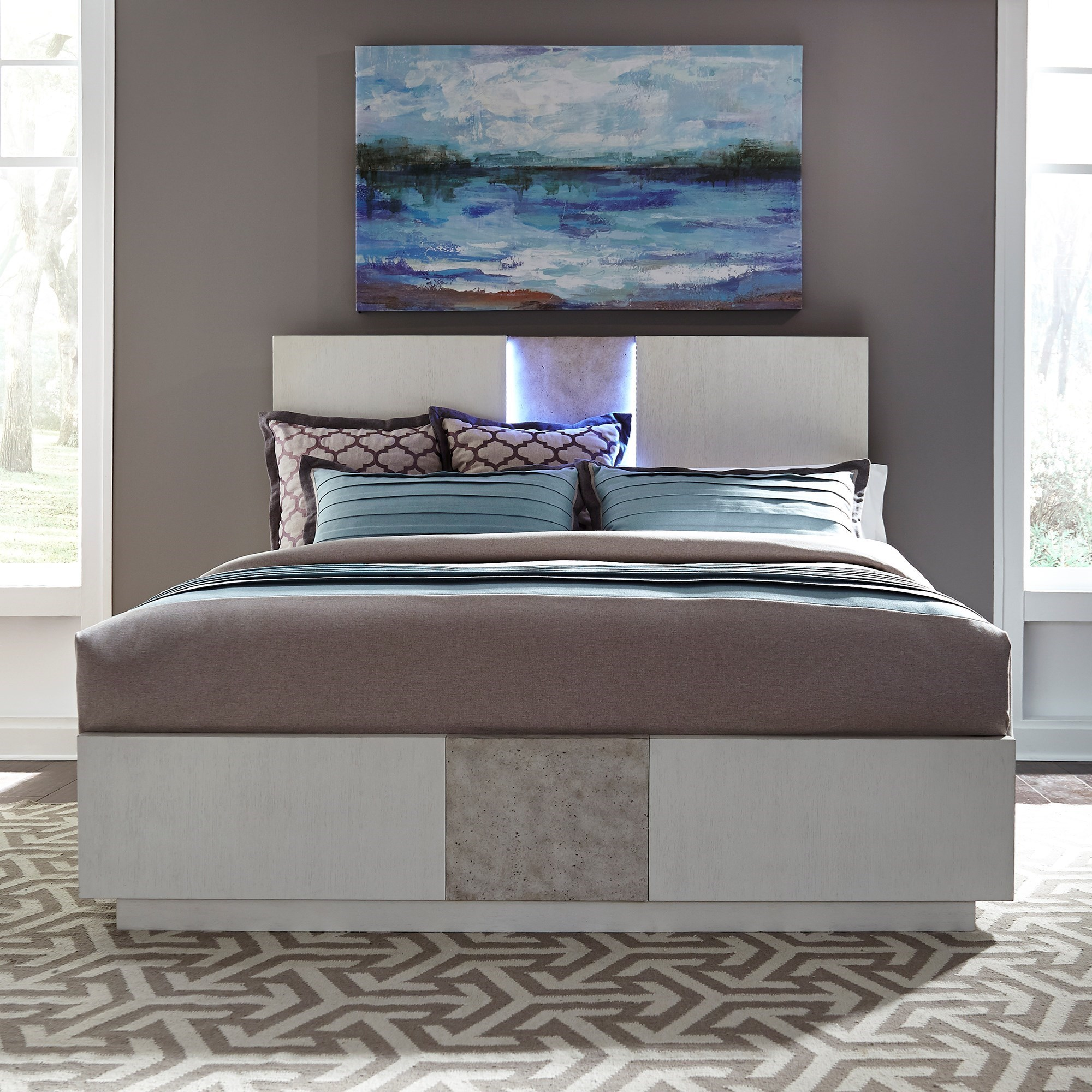 Mirage - 946 California King Panel Storage Bed by Libby at Walker's Furniture