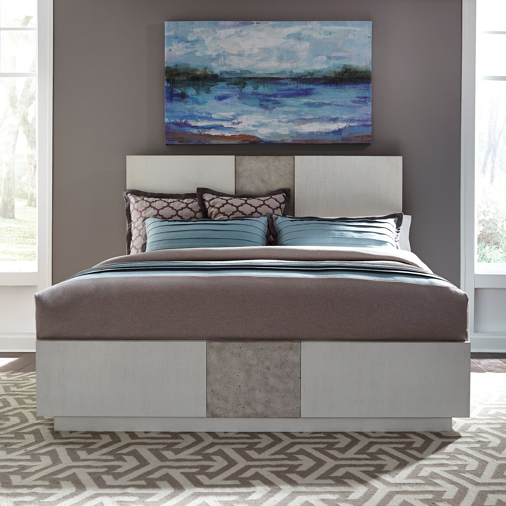 Mirage - 946 King Panel Storage Bed by Libby at Walker's Furniture
