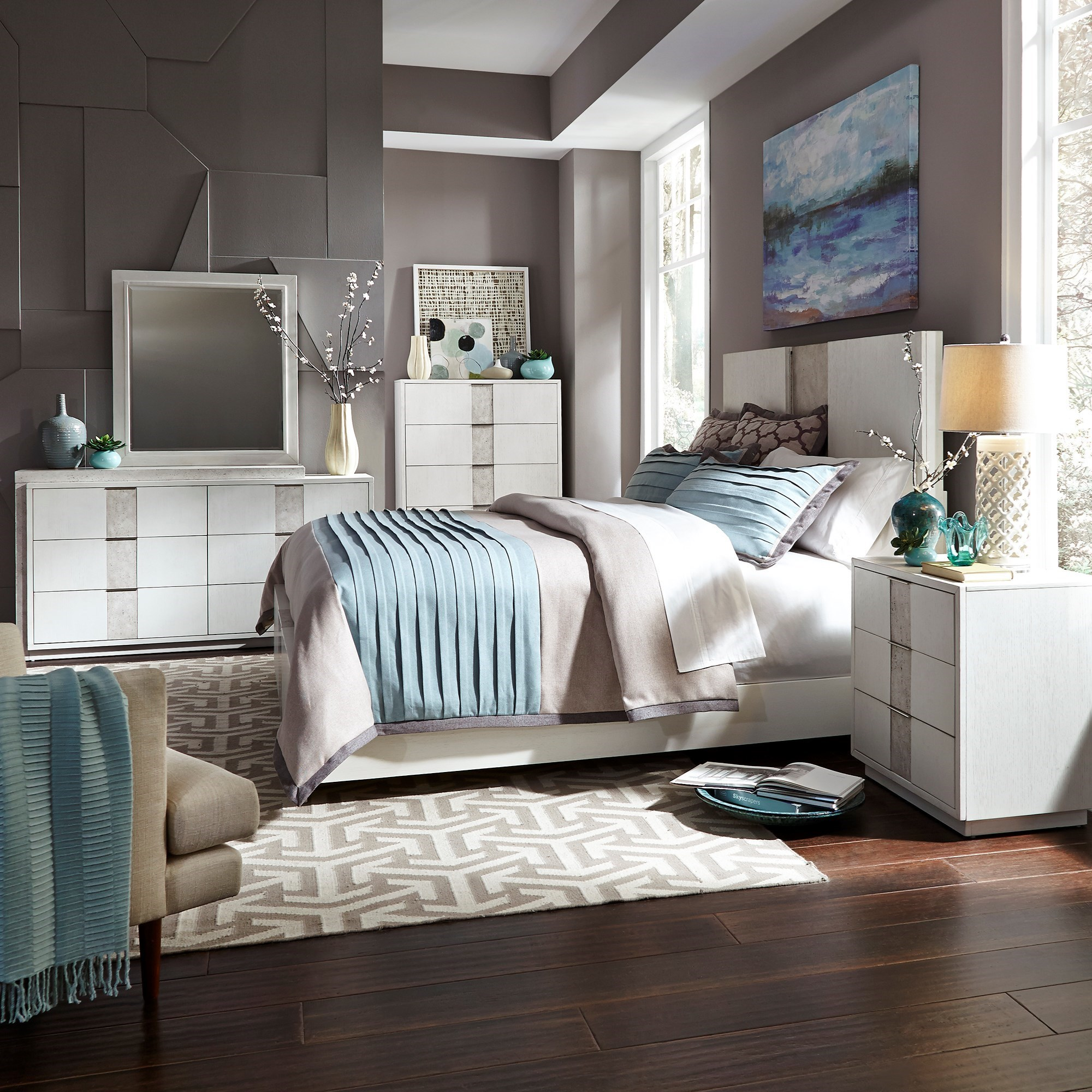 Mirage - 946 Queen Bedroom Group by Libby at Walker's Furniture