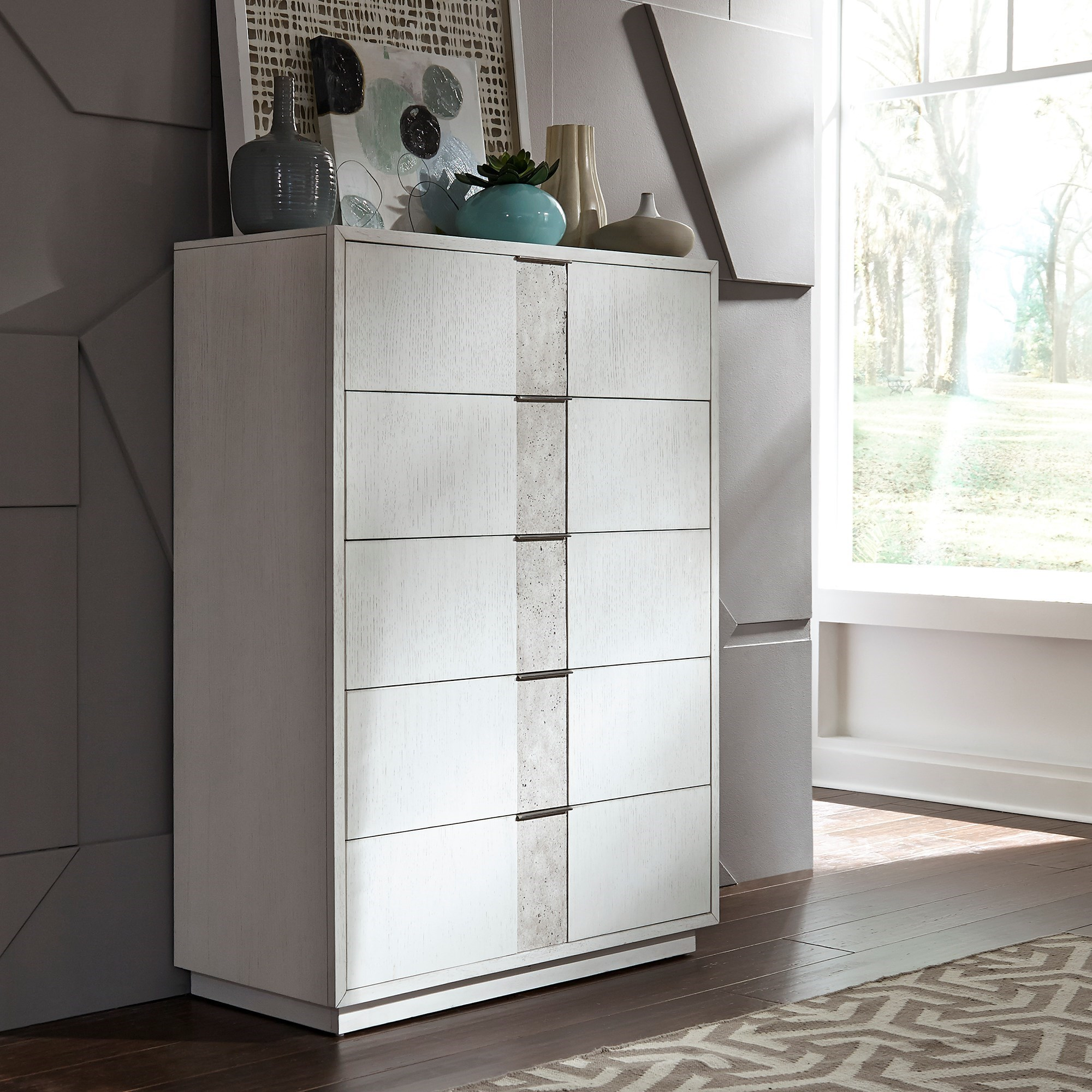Mirage - 946 5-Drawer Chest by Libby at Walker's Furniture