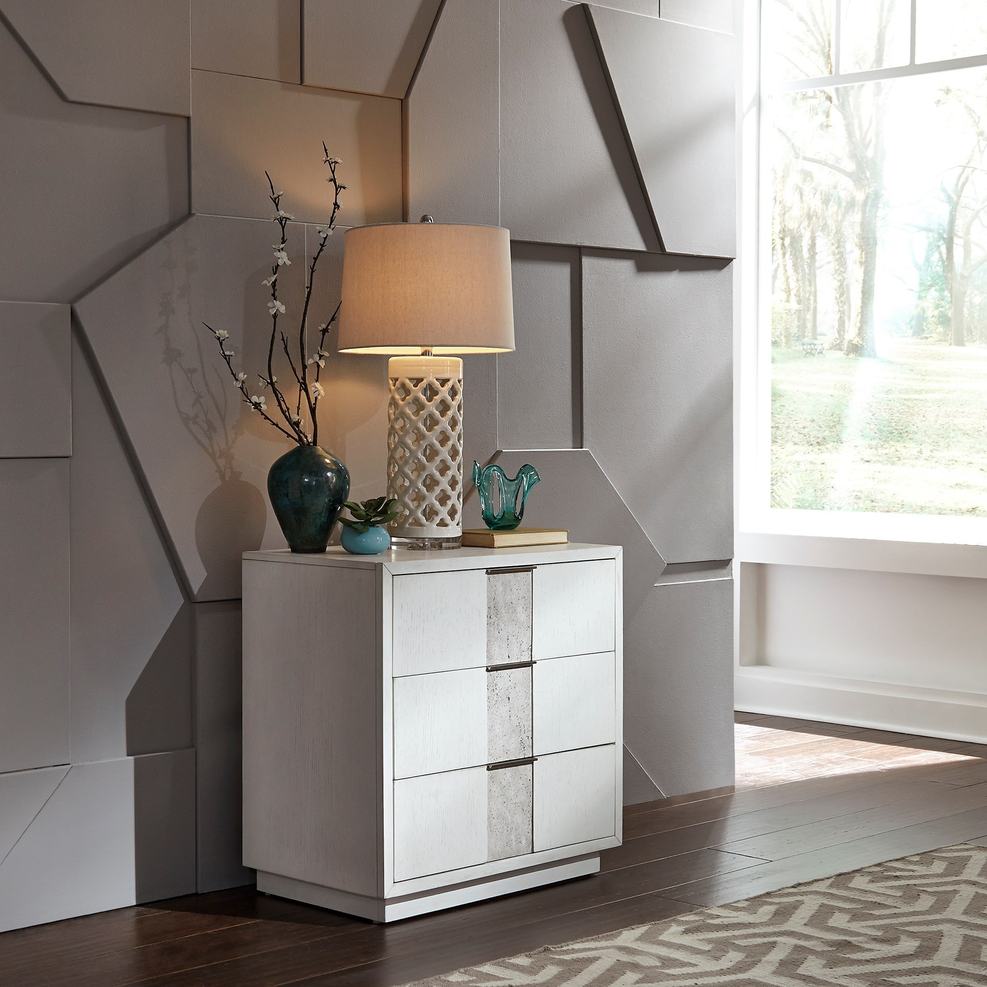 Mirage - 946 3-Drawer Night Stand by Freedom Furniture at Ruby Gordon Home