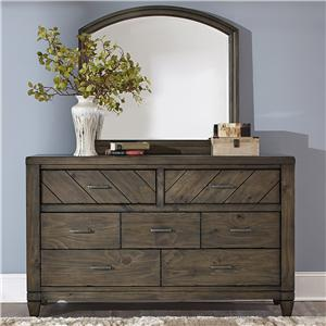 Liberty Furniture Modern Country Dresser and Mirror