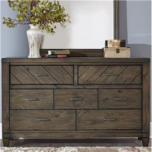 Liberty Furniture Modern Country 7 Drawer Dresser