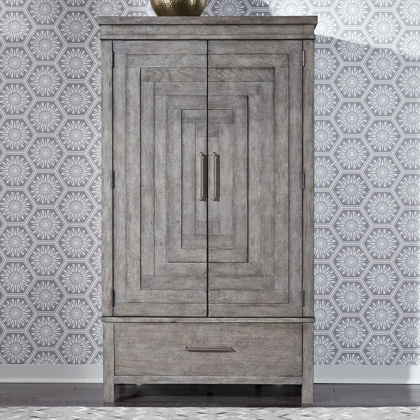 Modern Farmhouse Armoire by Libby at Walker's Furniture