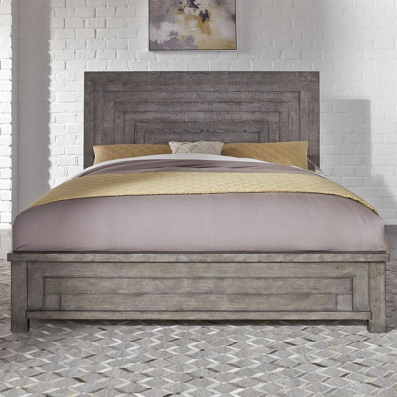 Modern Farmhouse King Low Profile Bed by Liberty Furniture at Home Collections Furniture