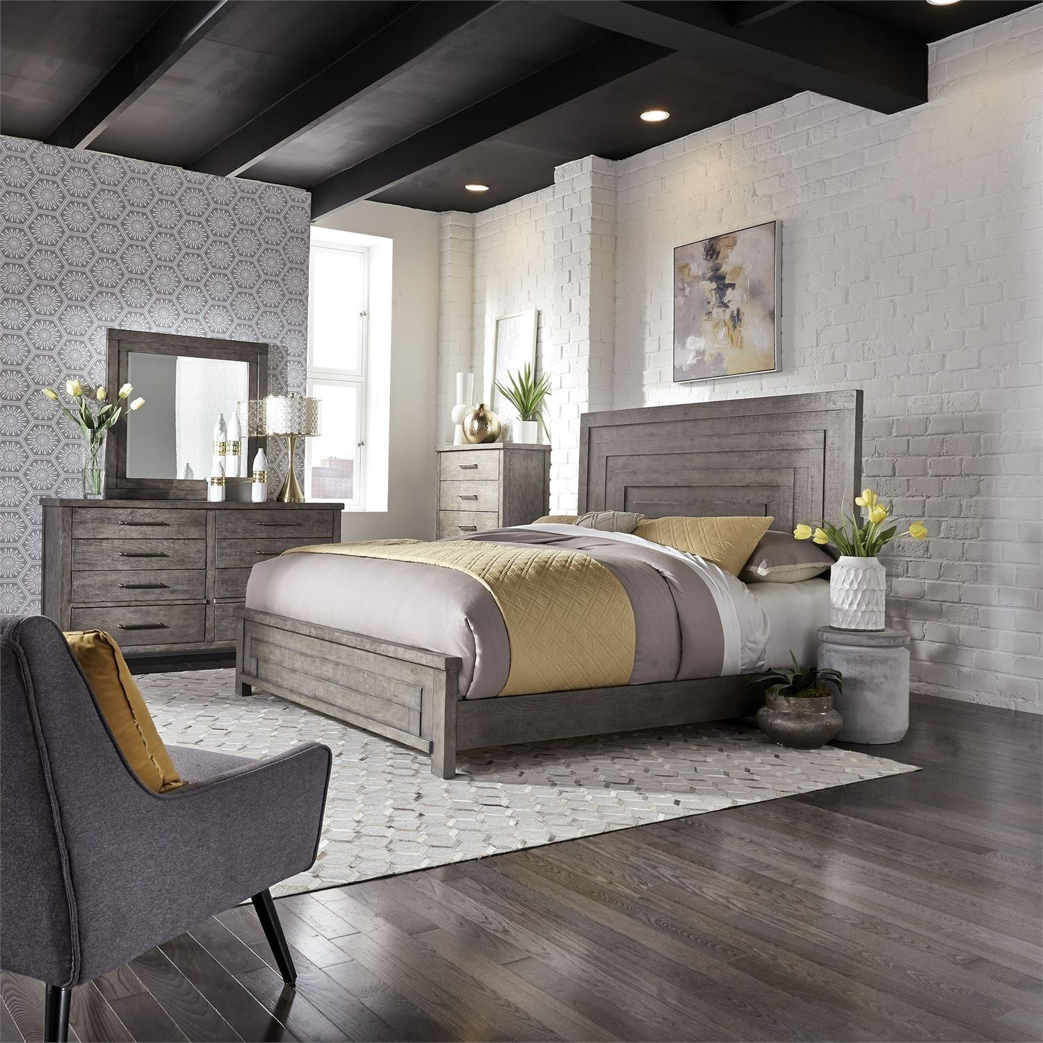 Modern Farmhouse King Bedroom Group by Liberty Furniture at Van Hill Furniture