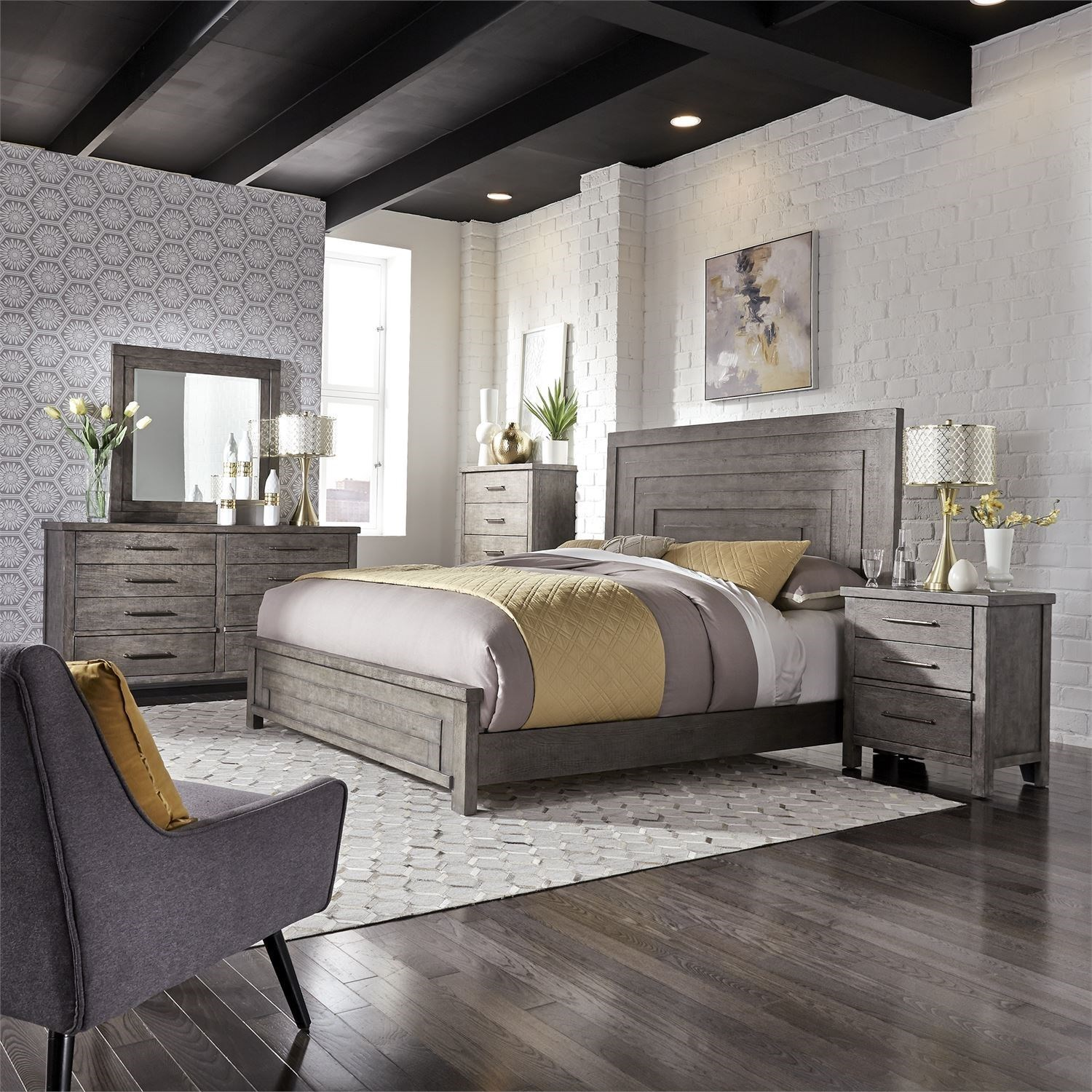 Modern Farmhouse King Bedroom Group by Libby at Walker's Furniture