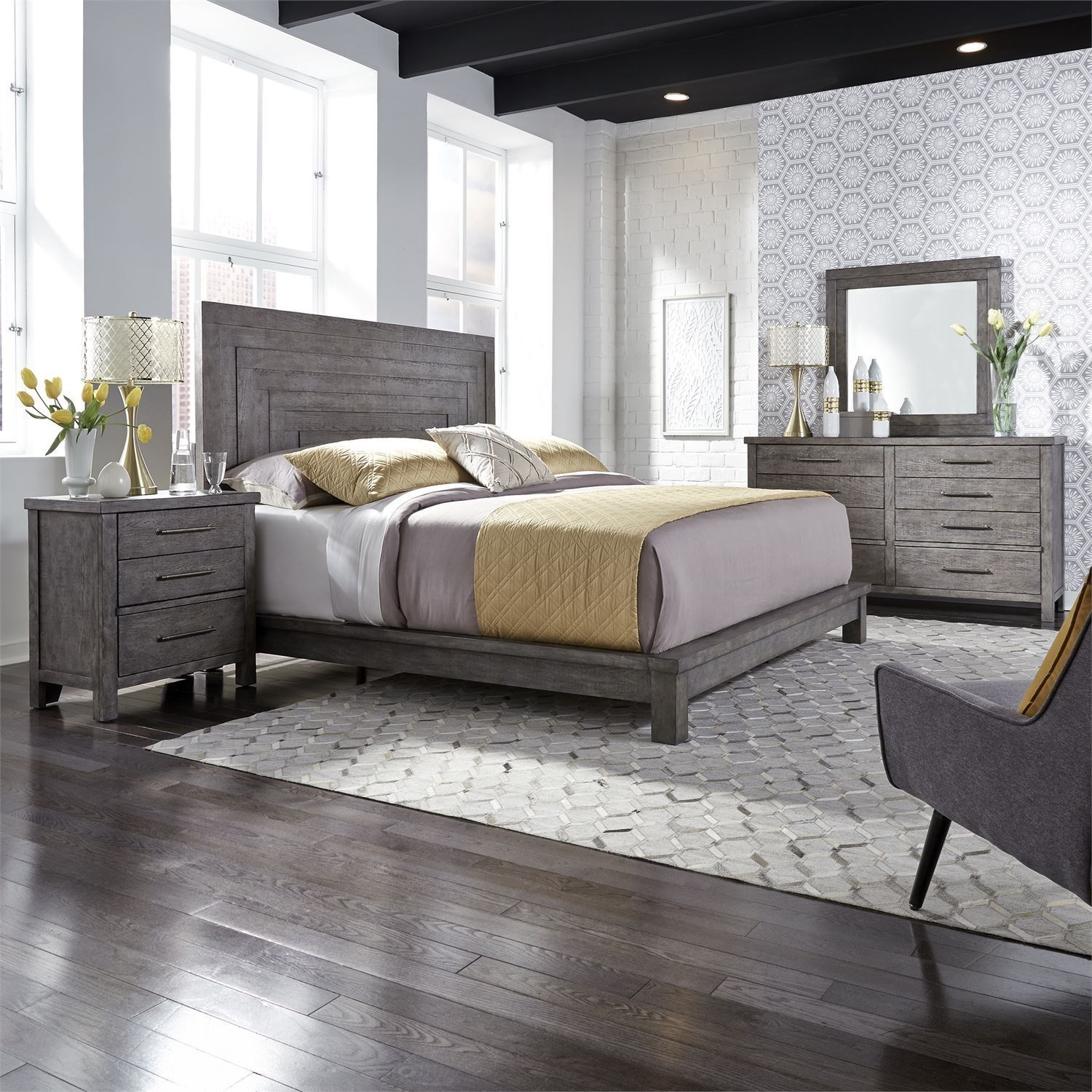 Modern Farmhouse King Bedroom Group by Liberty Furniture at Northeast Factory Direct