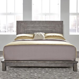 Contemporary Queen Platform Bed