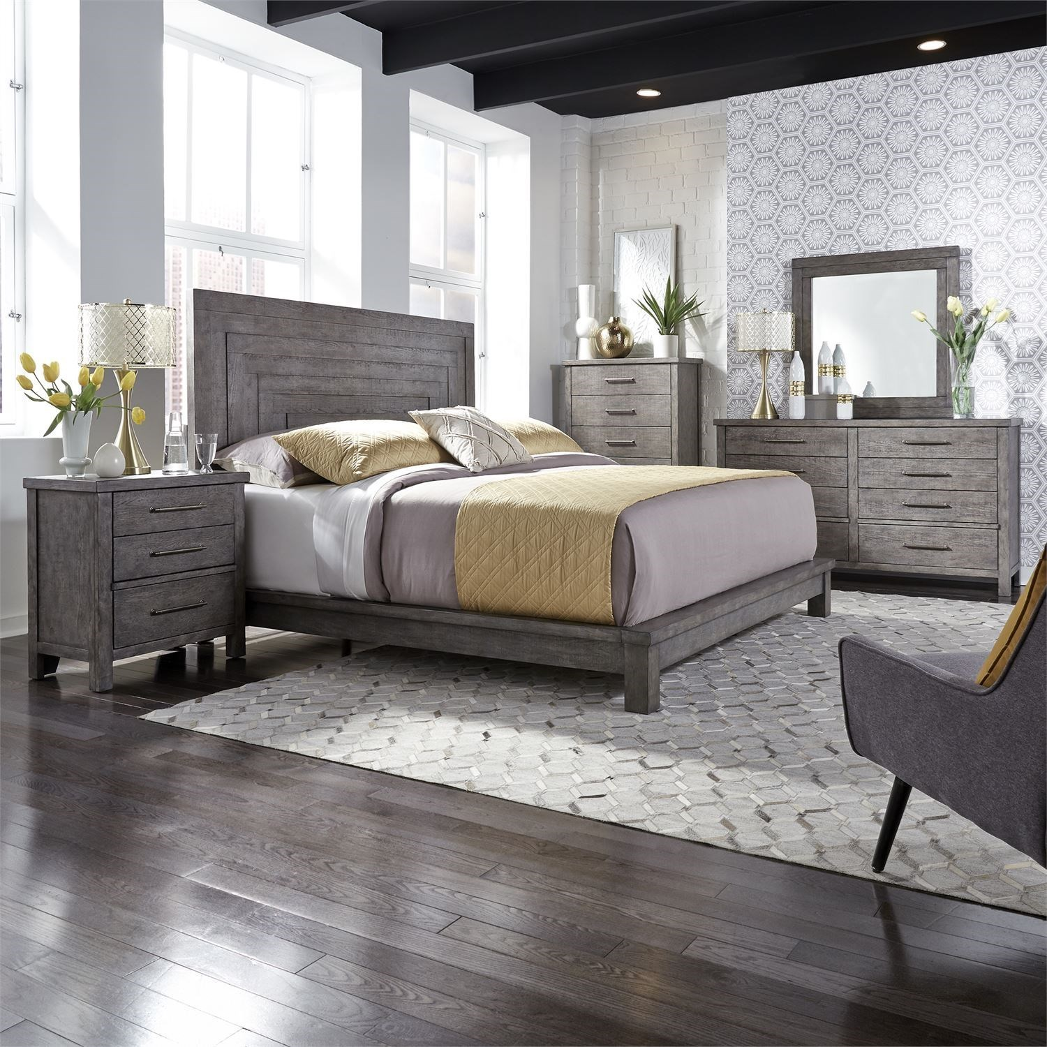 Modern Farmhouse Queen Bedroom Group by Liberty Furniture at Zak's Home
