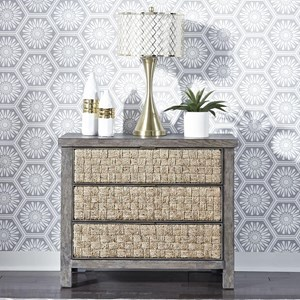 Contemporary 3-Drawer Accent Nightstand