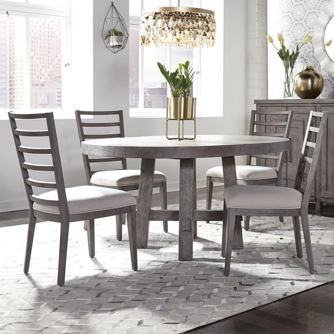 Modern Farmhouse 5-Piece Round Table and Chair Set by Freedom Furniture at Ruby Gordon Home