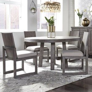 5-Piece Round Table and Chair Set