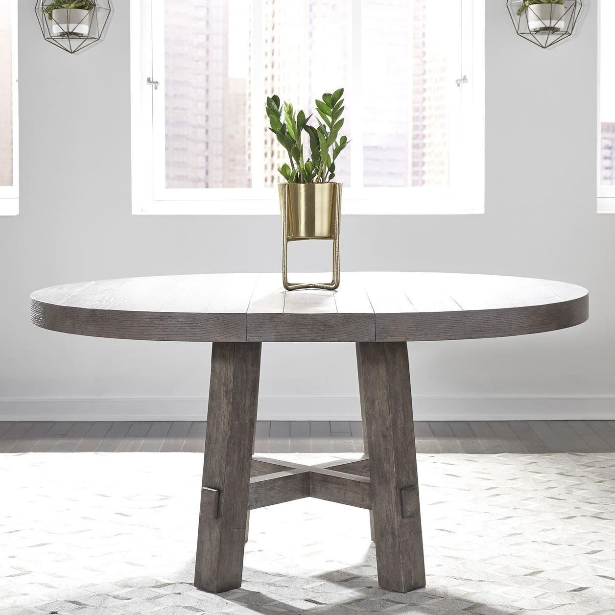 Modern Farmhouse Round Dining Table by Liberty Furniture at Beck's Furniture