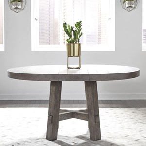 Contemporary Round Dining Table with 12
