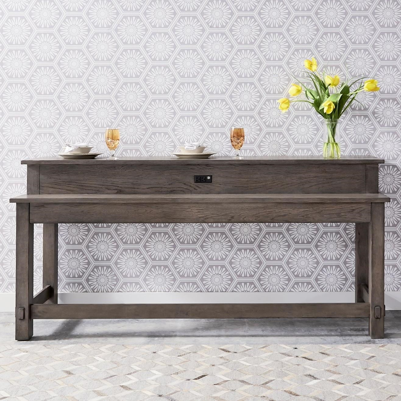 Modern Farmhouse Console Table by Liberty Furniture at Catalog Outlet