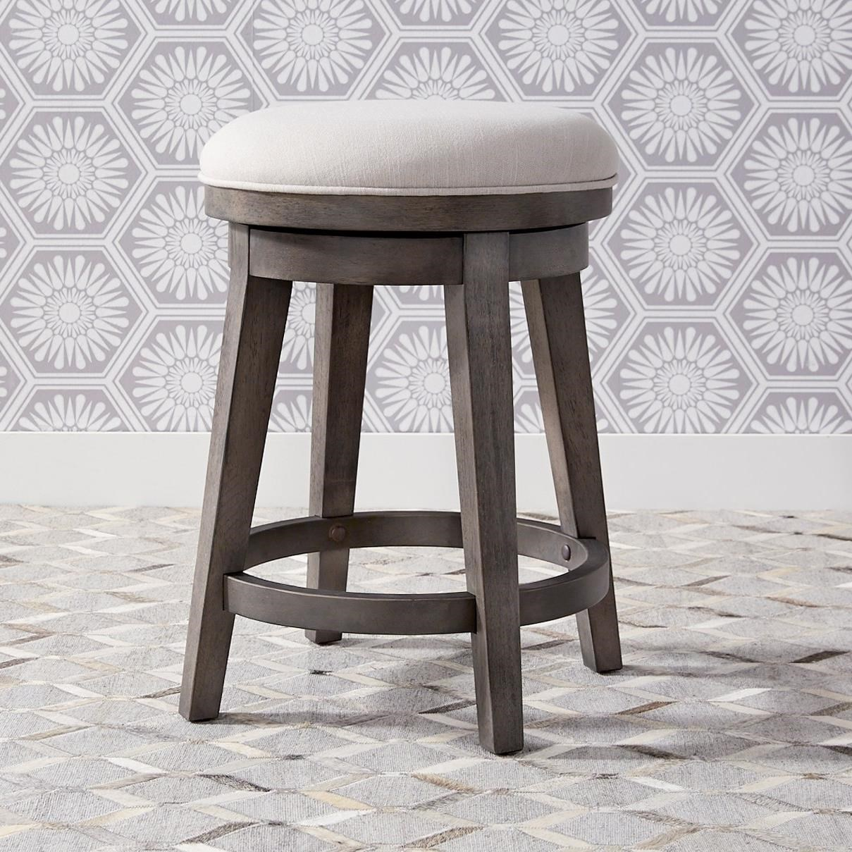 Modern Farmhouse Console Swivel Stool by Liberty Furniture at Northeast Factory Direct