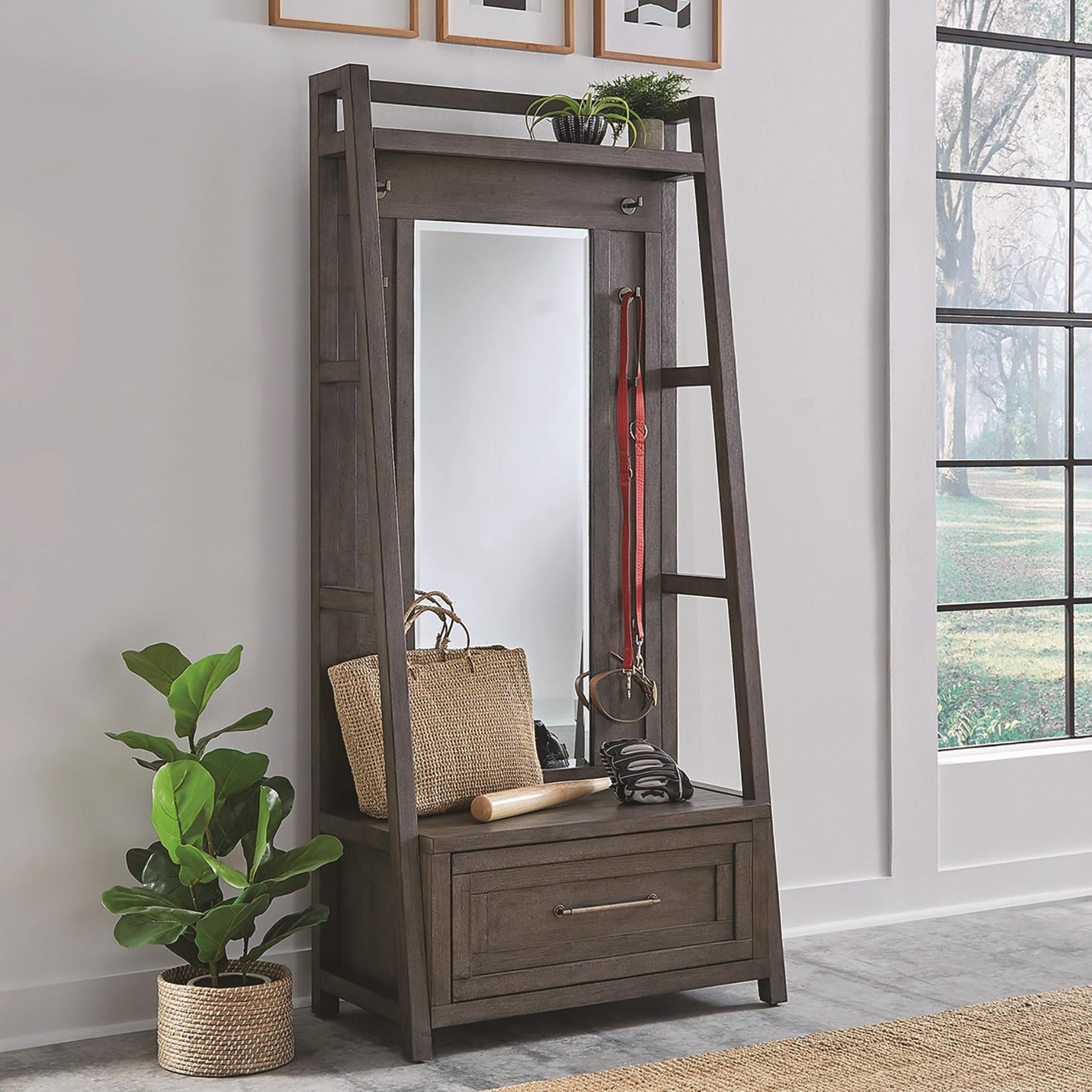 Modern Farmhouse Hall Tree by Liberty Furniture at Darvin Furniture