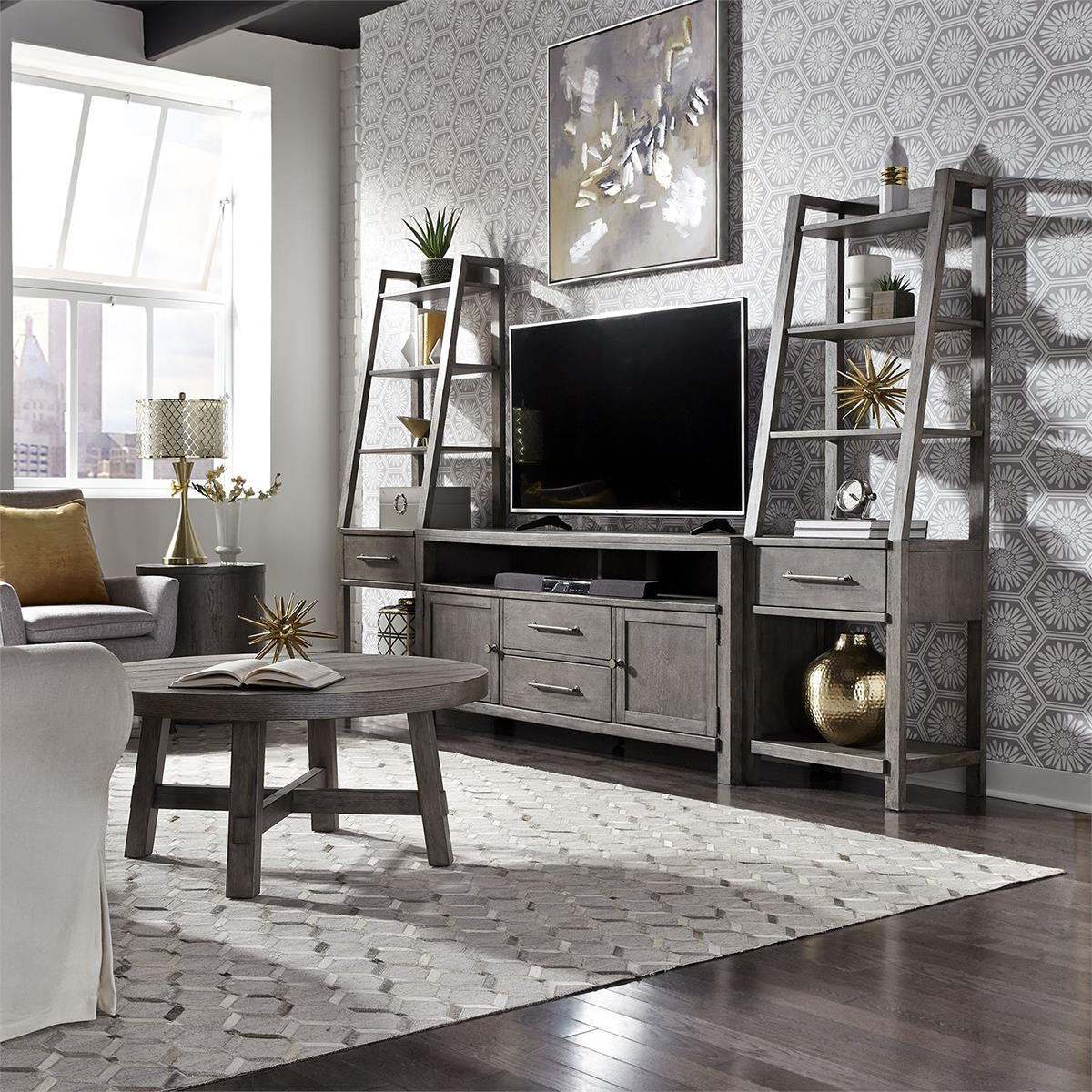 Modern Farmhouse 3 Piece Entertainment Wall by Liberty Furniture at Darvin Furniture