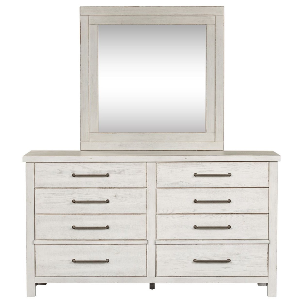 Modern Farmhouse Dresser and Mirror Set by Libby at Walker's Furniture