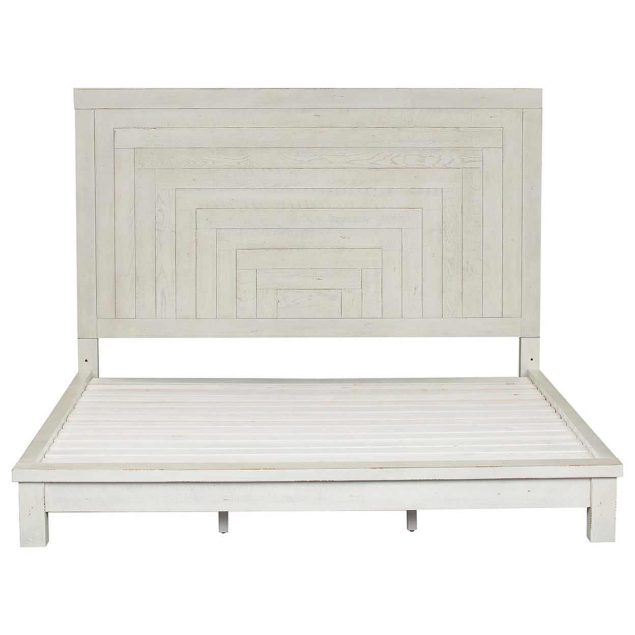 Modern Farmhouse Queen Platform bed by Libby at Walker's Furniture