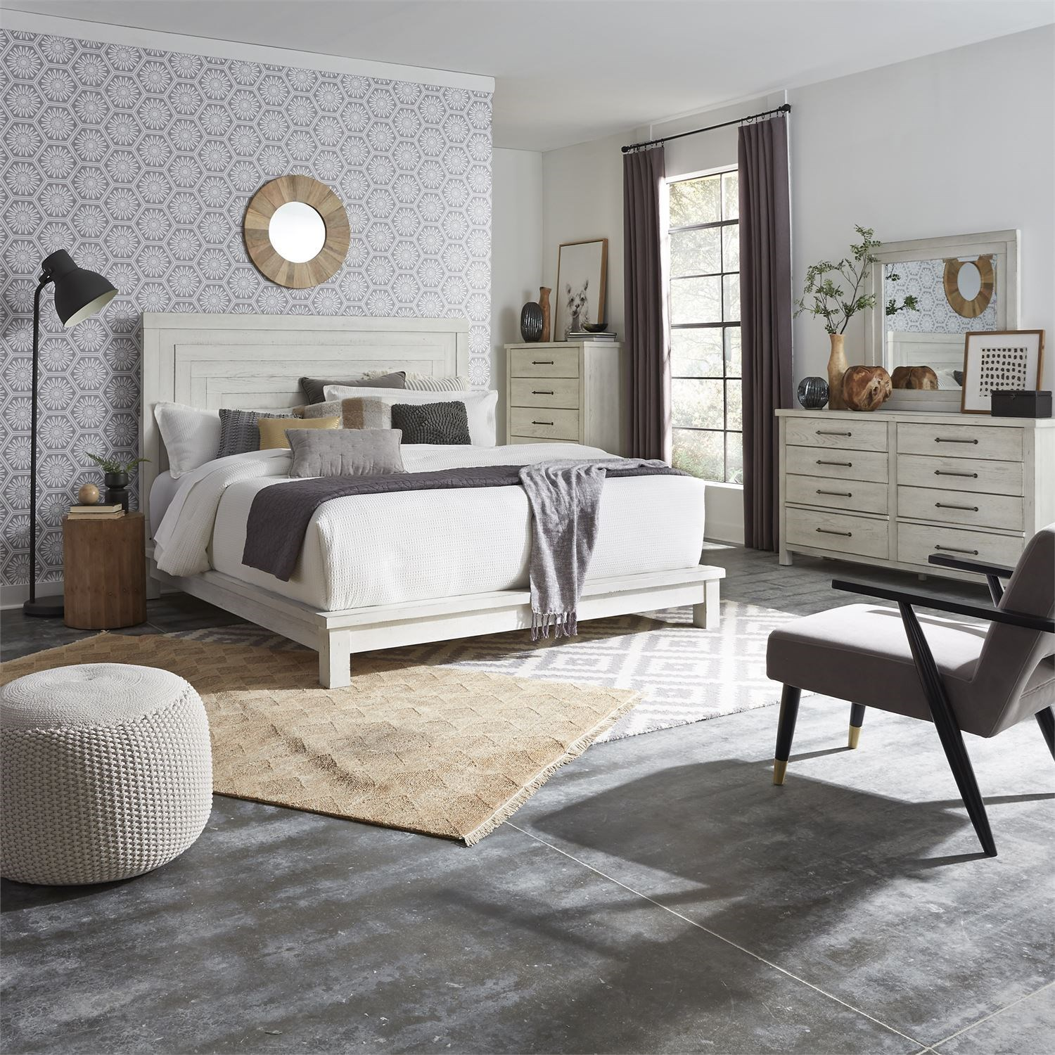 Modern Farmhouse Queen Bedroom Group by Libby at Walker's Furniture