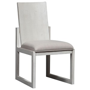 Contemporary Panel Back Side Chair