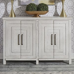 Contemporary 4-Door Buffet with 2 Adjustable Shelves