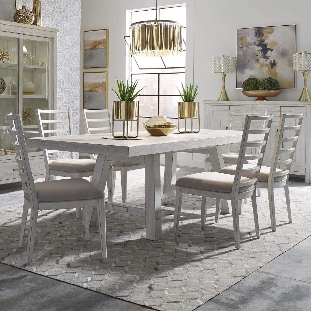 Modern Farmhouse 7-Piece Trestle Table and Chair Set by Liberty Furniture at Northeast Factory Direct