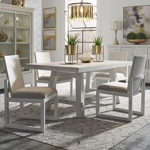 5-Piece Trestle Table and Chair Set