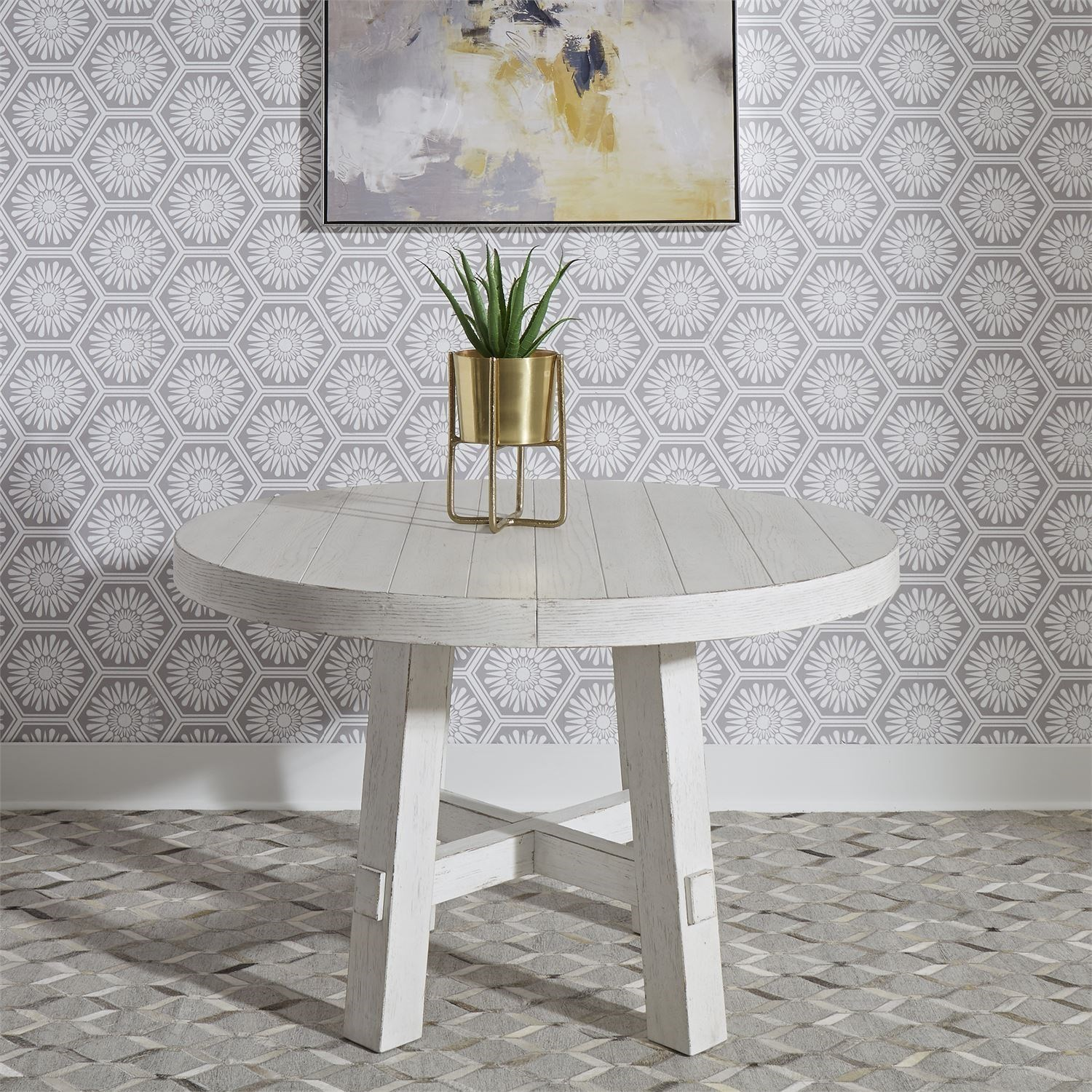 Modern Farmhouse Round Dining Table by Libby at Walker's Furniture