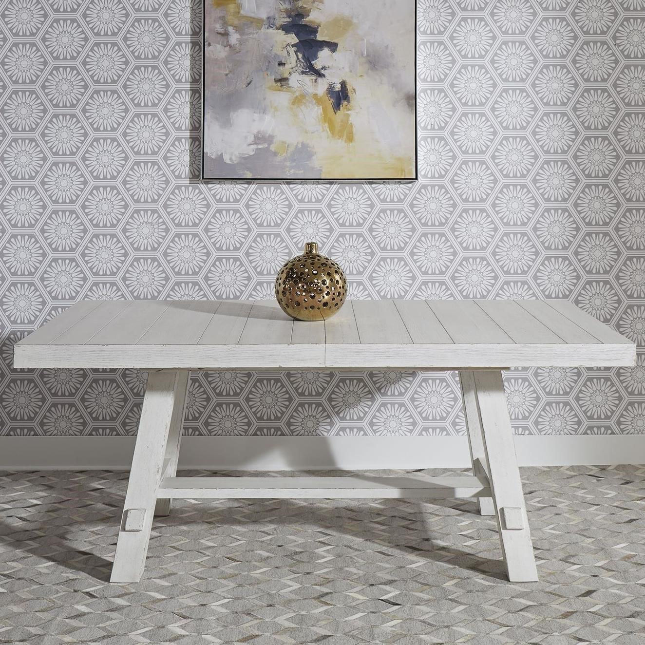 Modern Farmhouse Trestle Table by Libby at Walker's Furniture