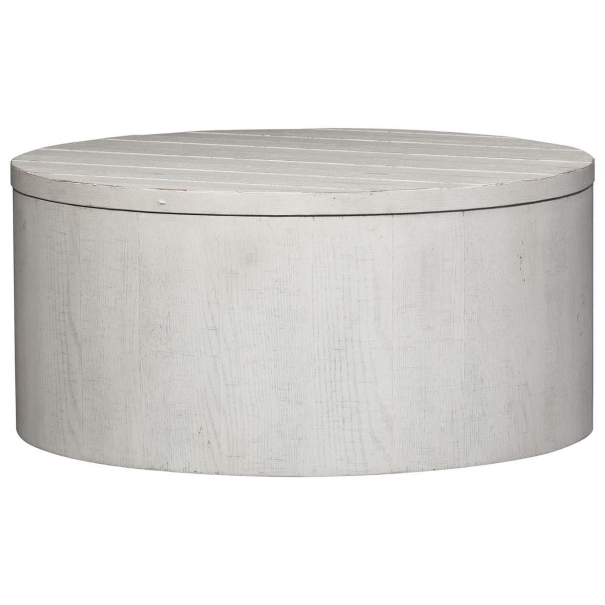 Modern Farmhouse Drum Cocktail Table by Libby at Walker's Furniture