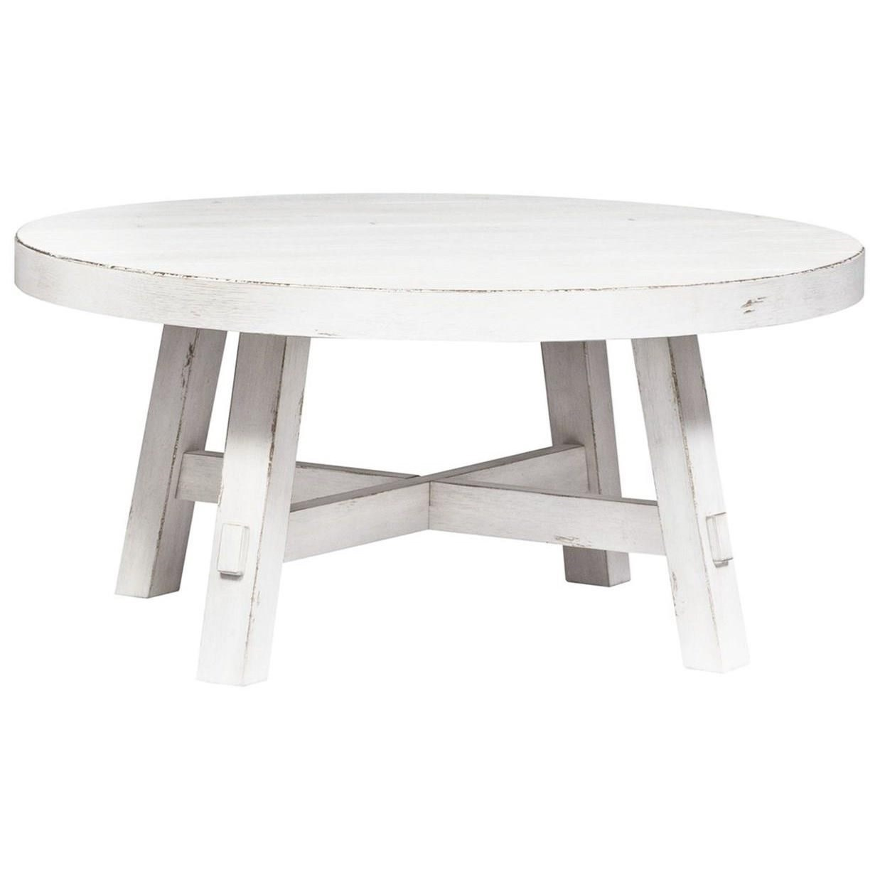 Modern Farmhouse Splay Leg Round Cocktail Table by Liberty Furniture at Standard Furniture