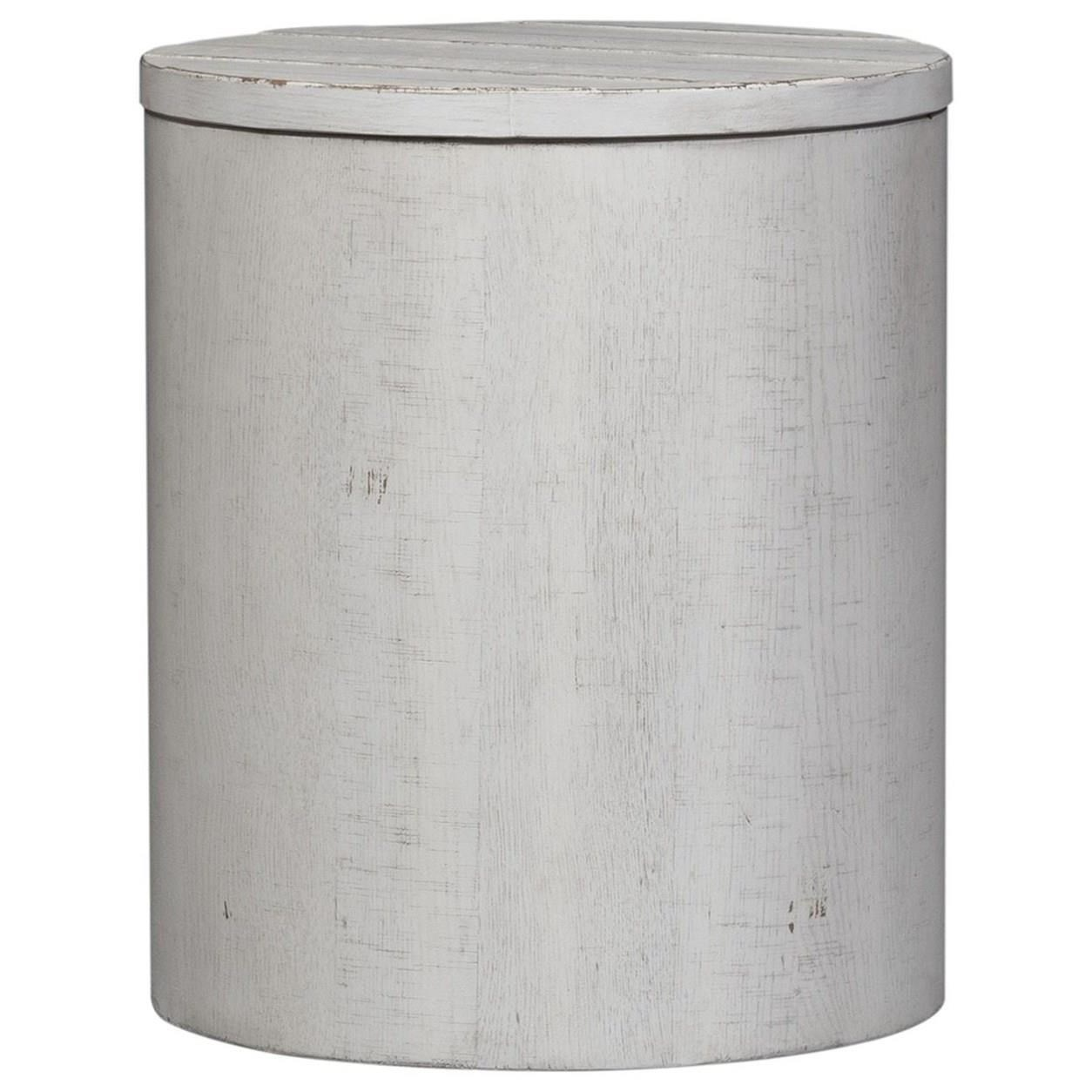 Modern Farmhouse Drum End Table by Libby at Walker's Furniture