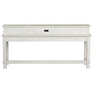 Contemporary Console Table with Charging Station