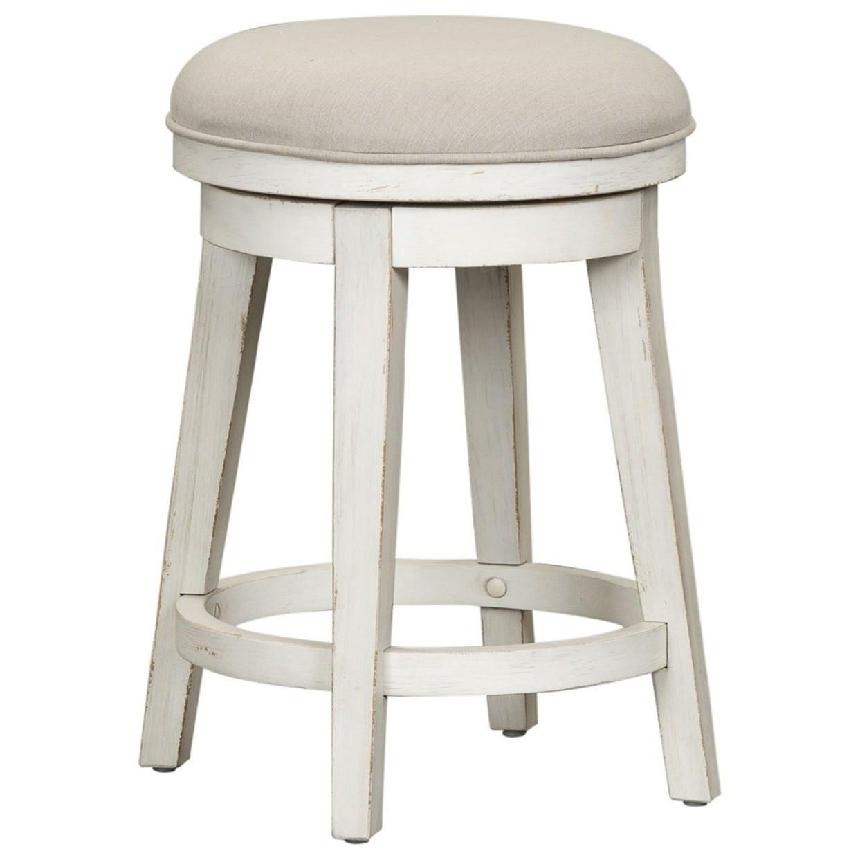 Modern Farmhouse Console Swivel Stool by Libby at Walker's Furniture
