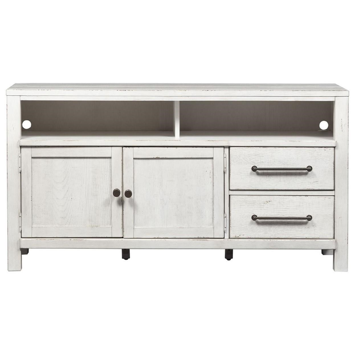 "Modern Farmhouse 56"" Entertainment Console by Liberty Furniture at Northeast Factory Direct"