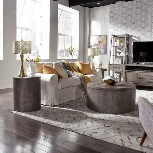 Modern Farmhouse 2 Piece Coffee Table Set by Liberty Furniture at Sam Levitz Outlet
