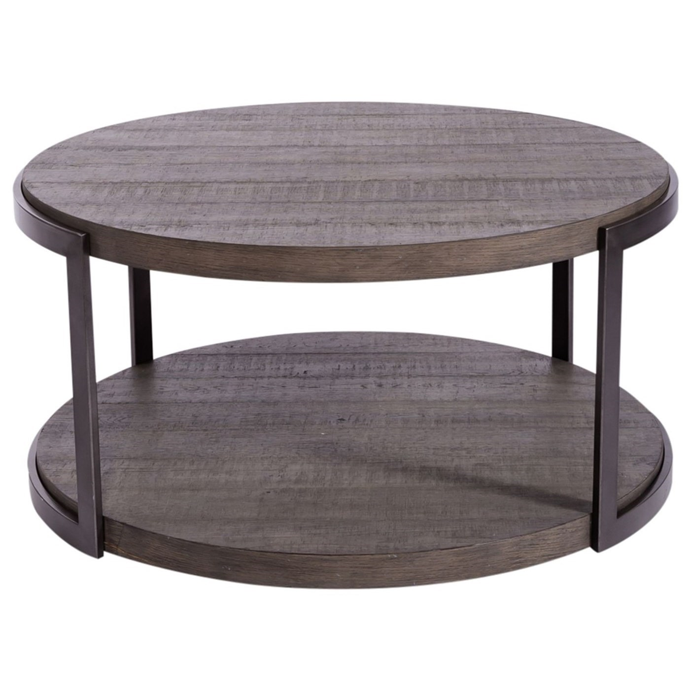 Modern View Round Cocktail Table by Liberty Furniture at VanDrie Home Furnishings