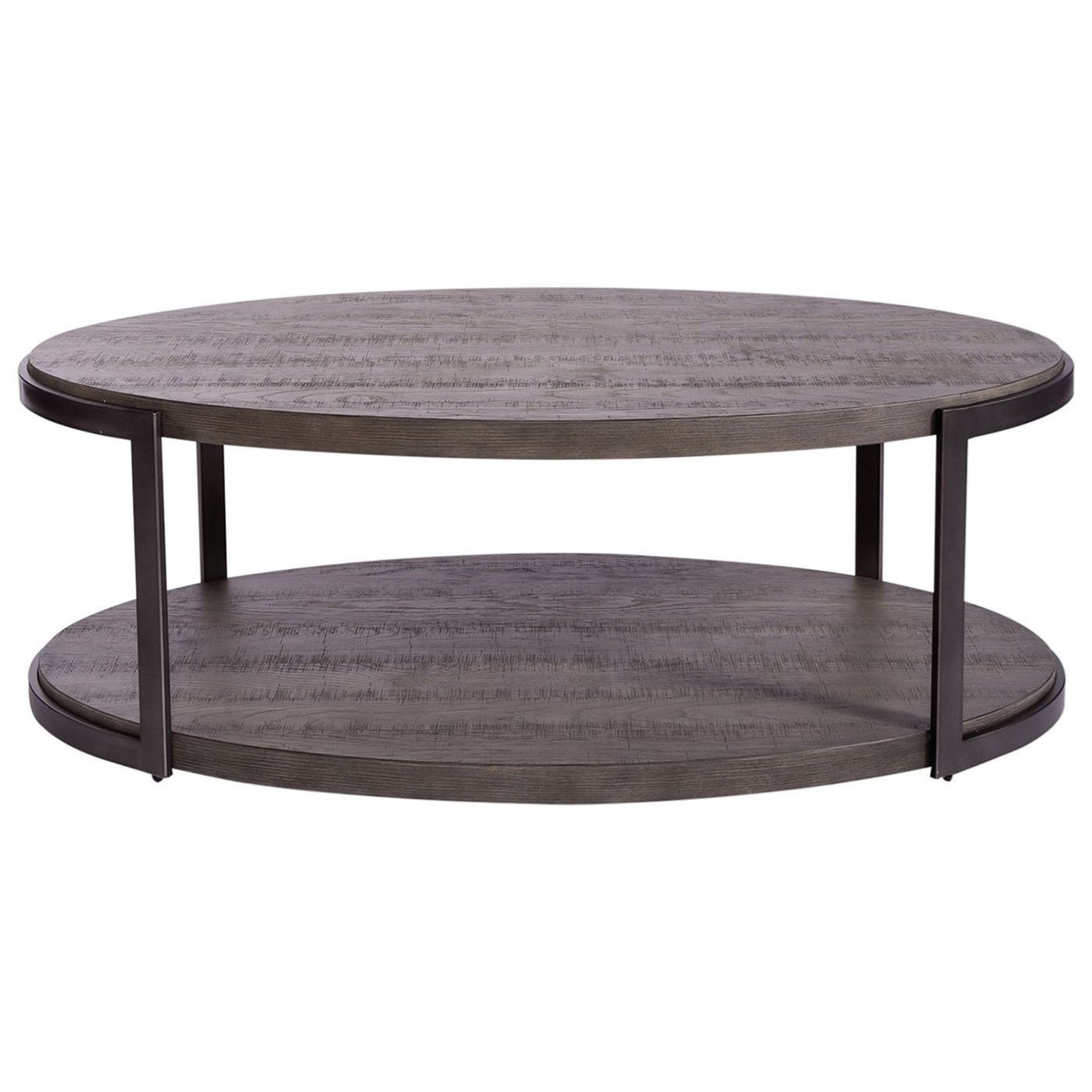 Modern View Oval Cocktail Table by Liberty Furniture at Northeast Factory Direct