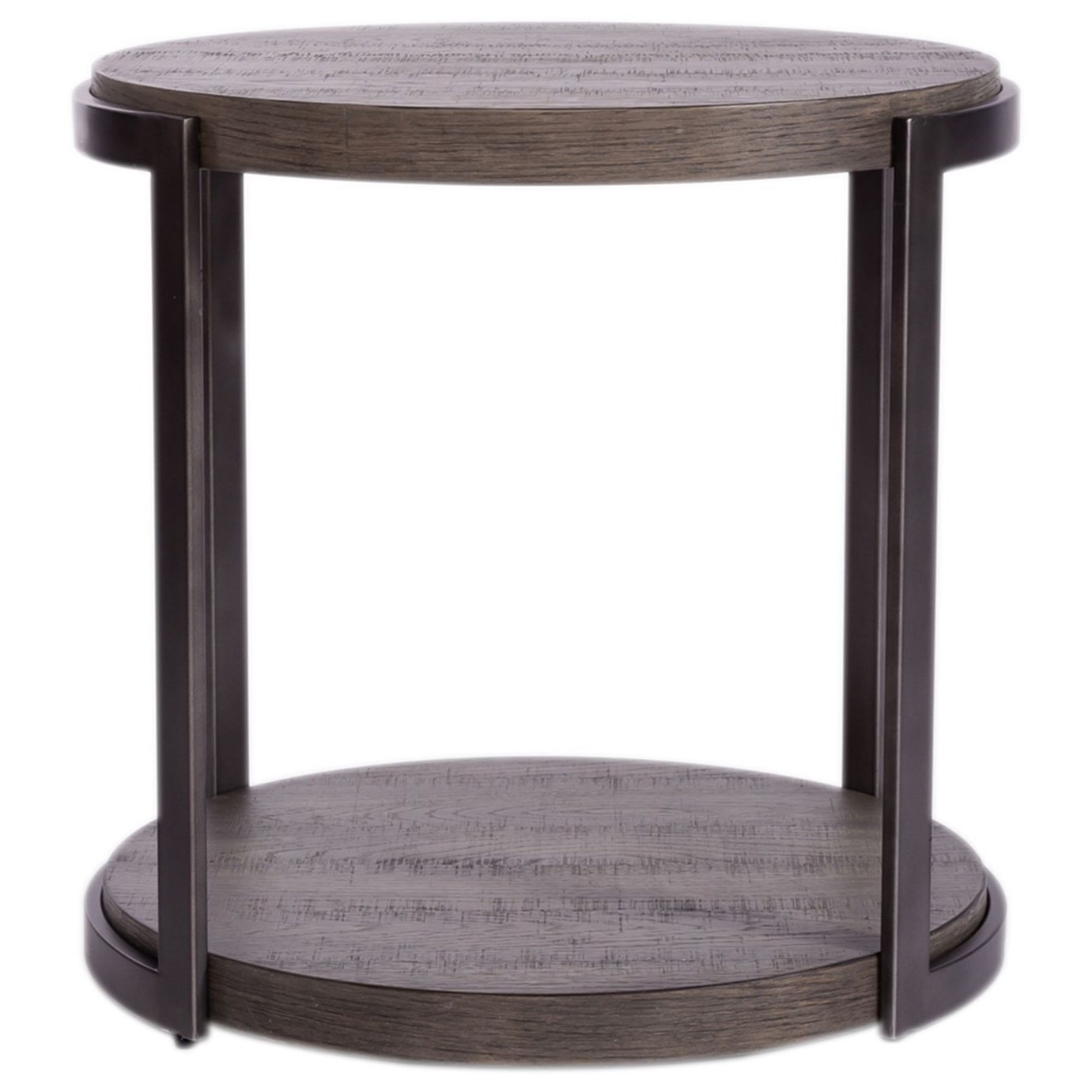 Modern View Round End Table by Libby at Walker's Furniture