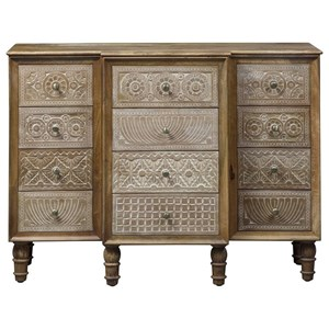 Global Accent Cabinet with 12 Drawers