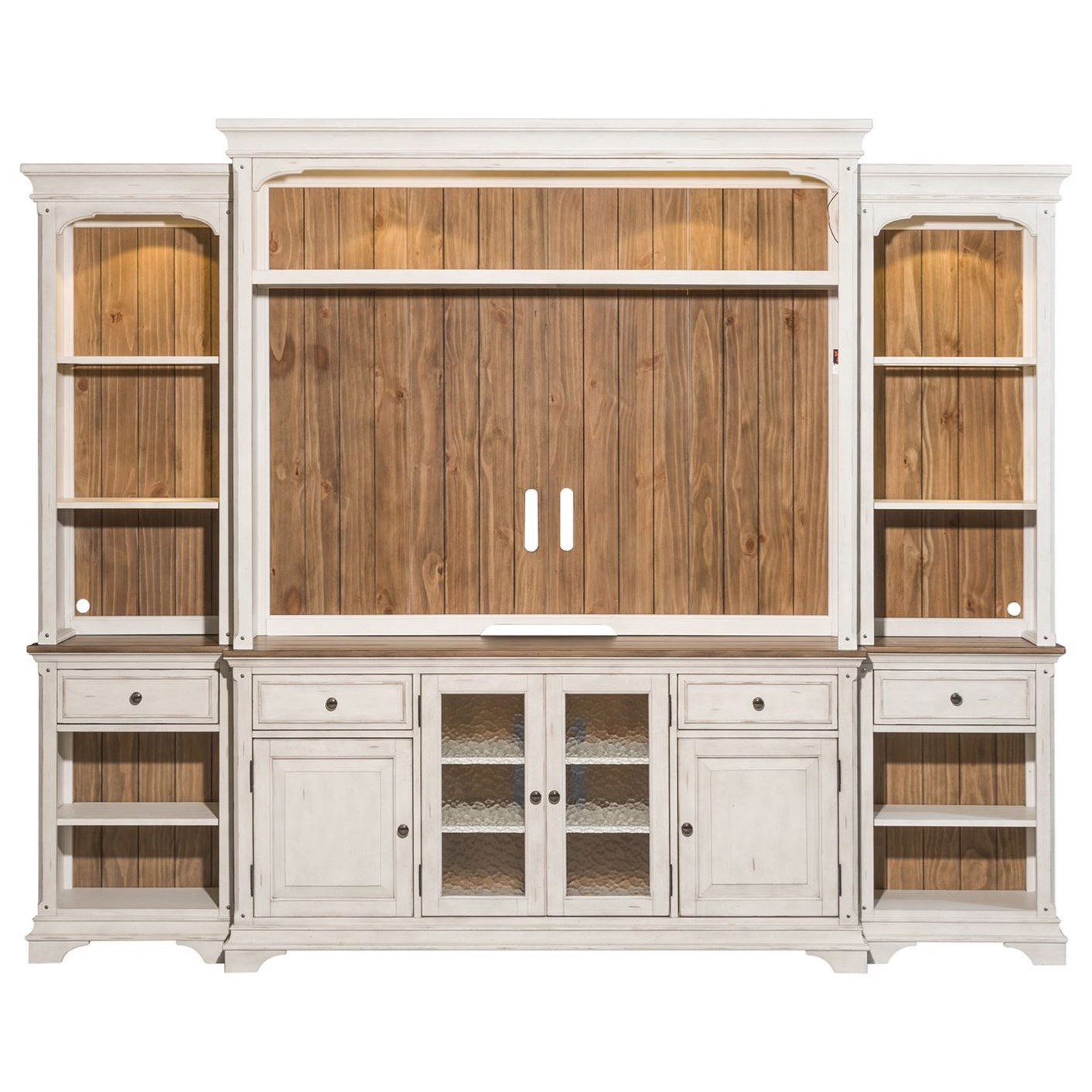 Morgan Creek Entertainment Center with Piers  by Liberty Furniture at Northeast Factory Direct