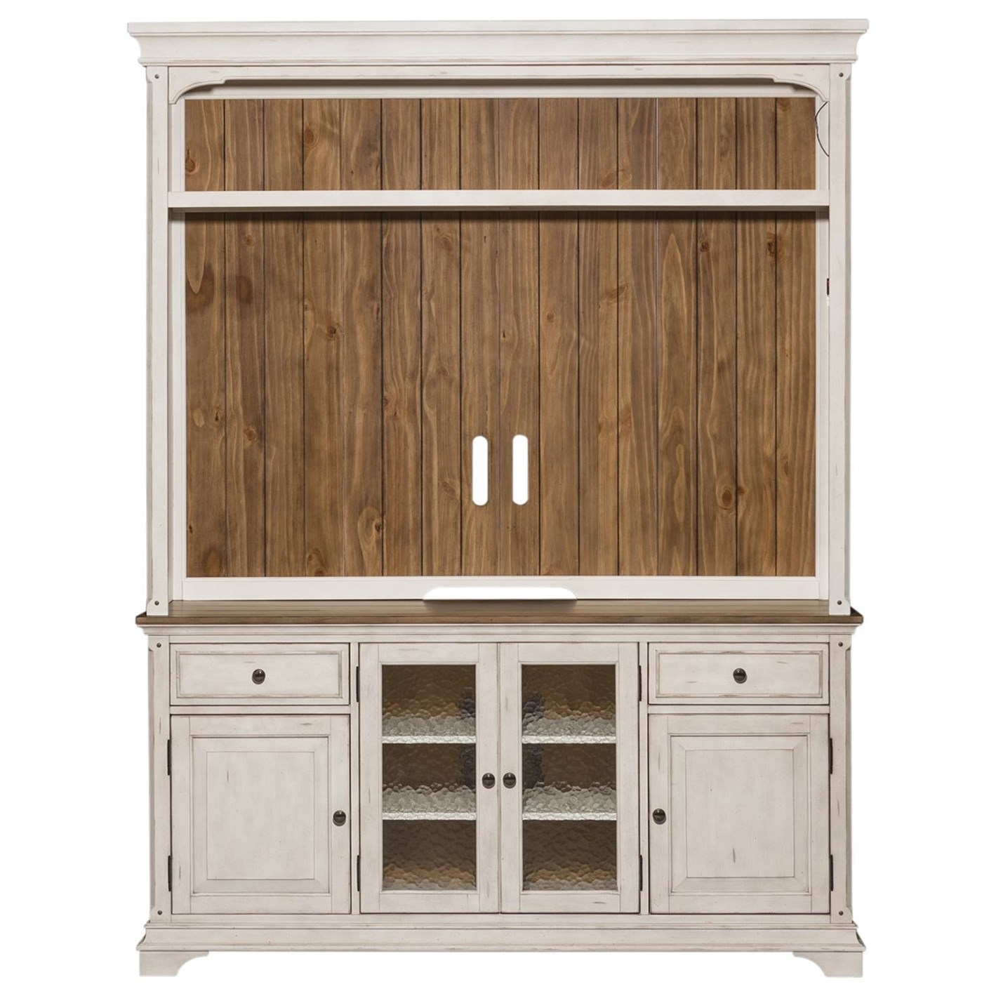 Morgan Creek Entertainment Center  by Libby at Walker's Furniture