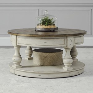 Relaxed Vintage Round Cocktail Table