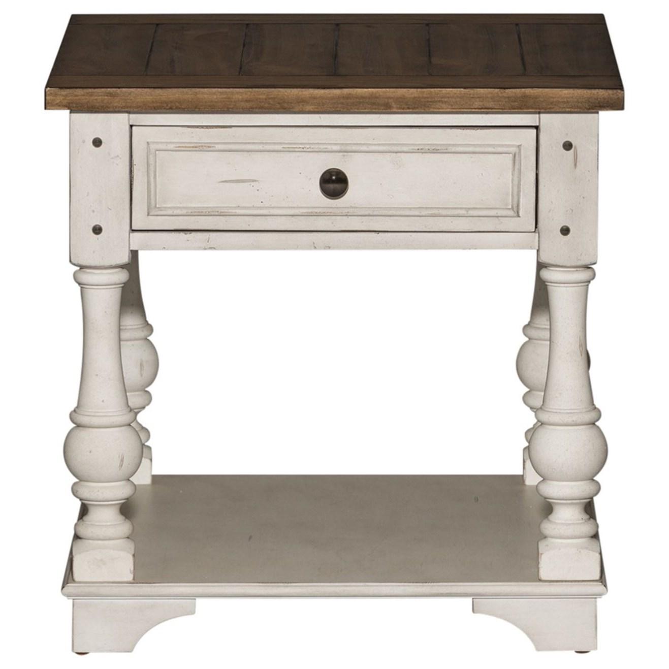 Morgan Creek End Table by Liberty Furniture at Darvin Furniture