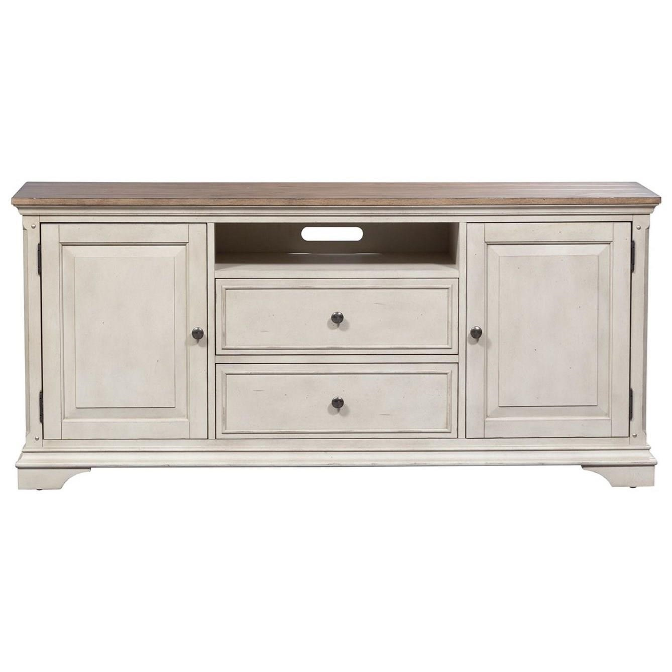 Morgan Creek 66 Inch TV Console by Liberty Furniture at SuperStore