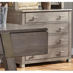 Contemporary 4 Drawer File Cabinet with Bottom File Drawer