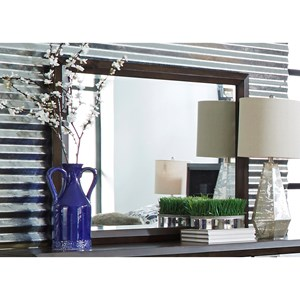 Canted Dresser Mirror with Wide Frame
